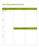 One Page Mktg Plan Image